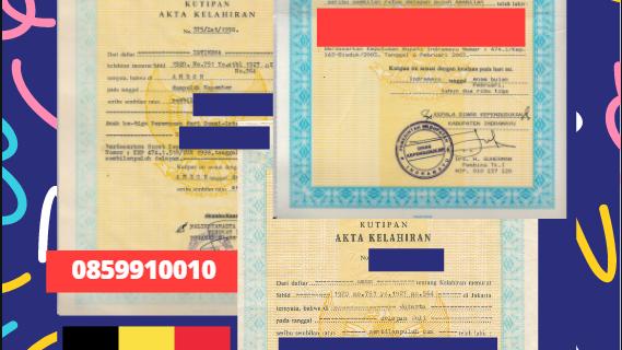 Jasa Legalisir Akta Lahir Indonesia di Wavre – Belgia    08559910010