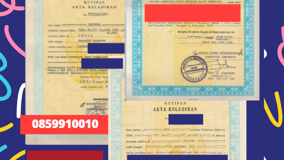 Jasa Legalisir Akta Lahir Indonesia di Middelburg – Belanda || 08559910010