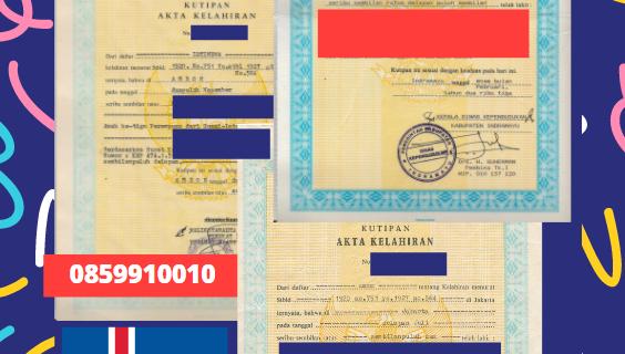 Jasa Legalisir Akta Lahir Indonesia di Akrahreppur – Islandia    08559910010