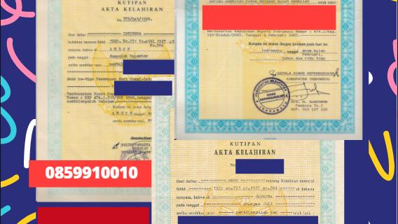 Jasa Legalisir Akta Lahir Indonesia di Asturias – Spanyol || 08559910010