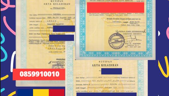 Jasa Legalisir Akta Lahir Indonesia di Bihor – Romania || 08559910010