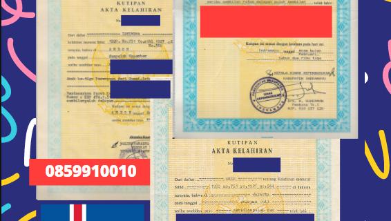 Jasa Legalisir Akta Lahir Indonesia di Blönduósbær – Islandia || 08559910010