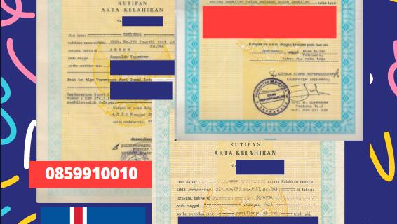 Jasa Legalisir Akta Lahir Indonesia di Bolungarvík – Islandia    08559910010