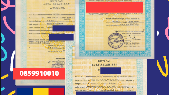 Jasa Legalisir Akta Lahir Indonesia di Braşov – Romania    08559910010
