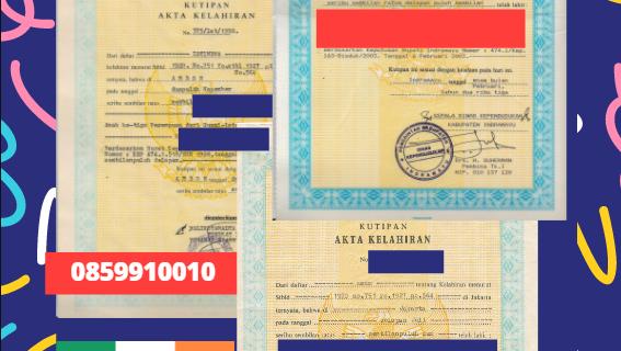 Jasa Legalisir Akta Lahir Indonesia di Carlow – Irlandia || 08559910010