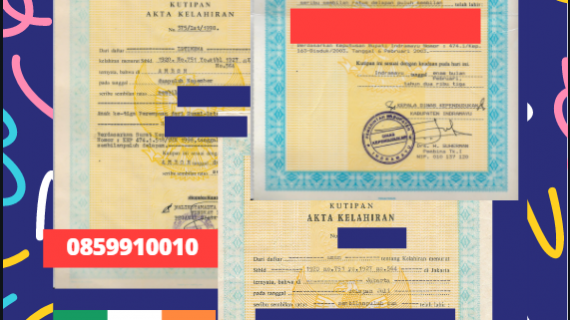 Jasa Legalisir Akta Lahir Indonesia di Cork – Irlandia    08559910010