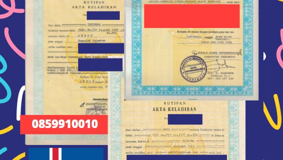 Jasa Legalisir Akta Lahir Indonesia di Dalabyggð – Islandia || 08559910010
