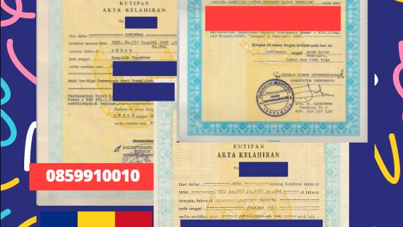 Jasa Legalisir Akta Lahir Indonesia di Dolj – Romania || 08559910010