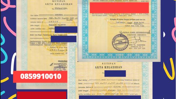 Jasa Legalisir Akta Lahir Indonesia di Extremadura – Spanyol    08559910010