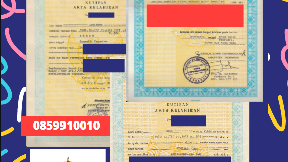 Jasa Legalisir Akta Lahir Indonesia Di Faetano – San Marino    08559910010