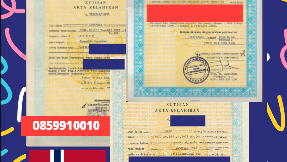 Jasa Legalisir Akta Lahir Indonesia di Finnmark – Norwegia    08559910010