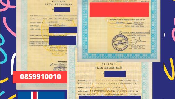 Jasa Legalisir Akta Lahir Indonesia di Fjallabyggð – Islandia    08559910010