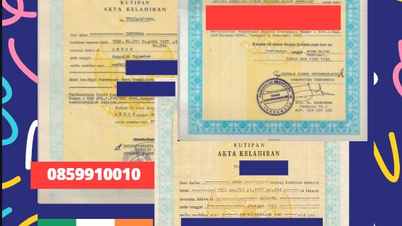 Jasa Legalisir Akta Lahir Indonesia di Galway – Irlandia || 08559910010