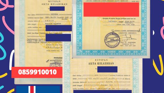 Jasa Legalisir Akta Lahir Indonesia di Grýtubakkahreppur – Islandia || 08559910010