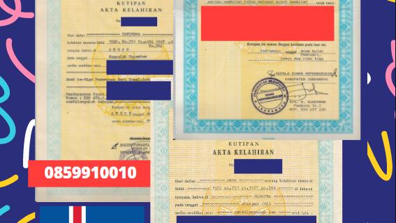 Jasa Legalisir Akta Lahir Indonesia di Hörgársveit – Islandia || 08559910010