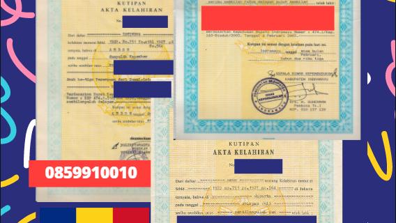 Jasa Legalisir Akta Lahir Indonesia di Ialomiţa – Romania || 08559910010