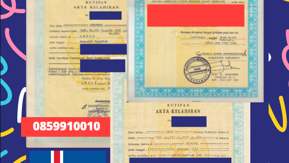Jasa Legalisir Akta Lahir Indonesia Di Kjósarhreppur – Islandia || 08559910010