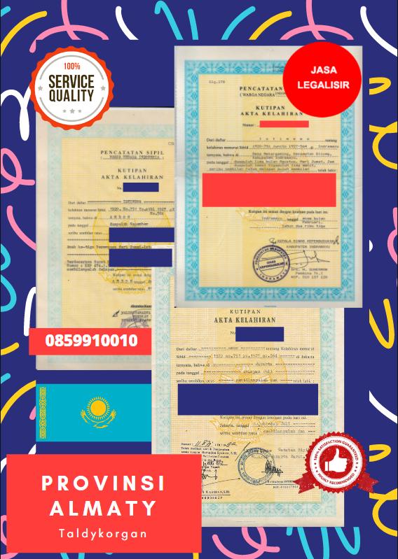 Jasa Legalisir Akta Lahir Indonesia Di Almaty - Kazakhstan || 08559910010