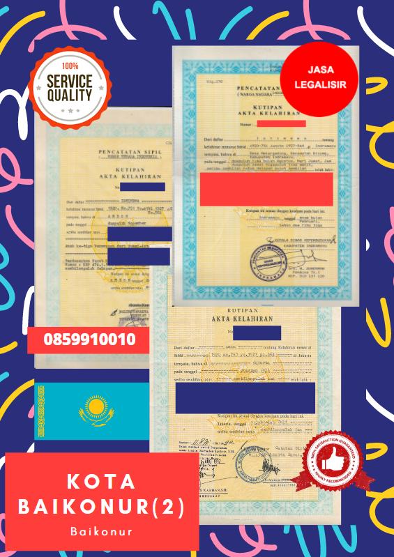 Jasa Legalisir Akta Lahir Indonesia Di Baikonur - Kazakhstan || 08559910010