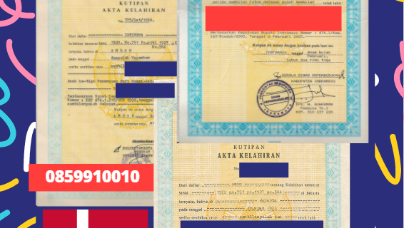 Jasa Legalisir Akta Lahir Indonesia di Aalborg – Denmark    08559910010