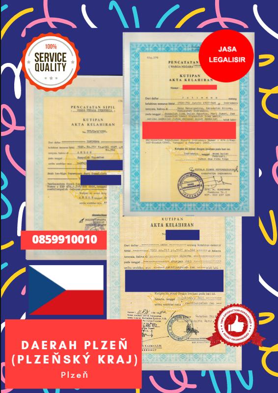 Jasa Legalisir Akta Lahir Indonesia di Daerah Plzeň (Plzeňský kraj) - Ceko    08559910010