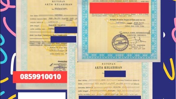 Jasa Legalisir Akta Lahir Indonesia di Kraków – Polandia    08559910010