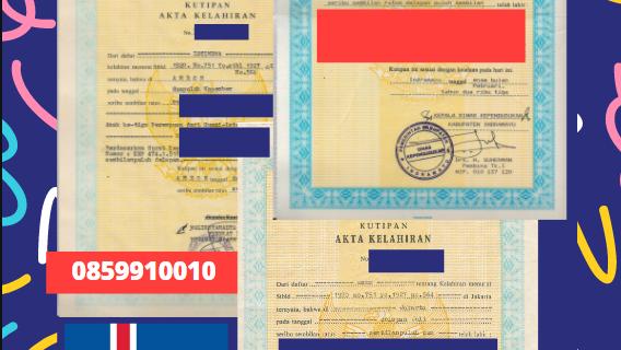 Jasa Legalisir Akta Lahir Indonesia Di Suðurnesjabær – Islandia || 08559910010