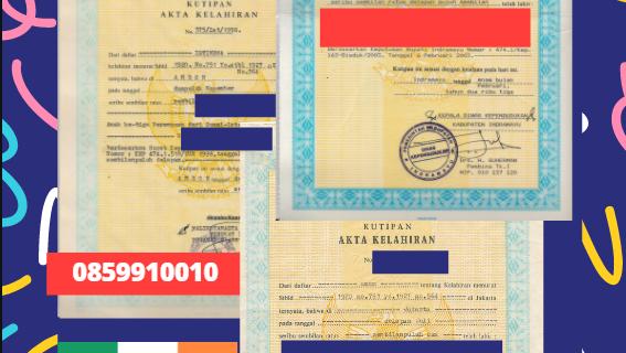 Jasa Legalisir Akta Lahir Indonesia di Tipperary – Irlandia    08559910010