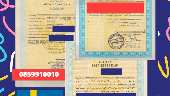 Jasa Legalisir Akta Lahir Indonesia di Gothenburg – Swedia    08559910010