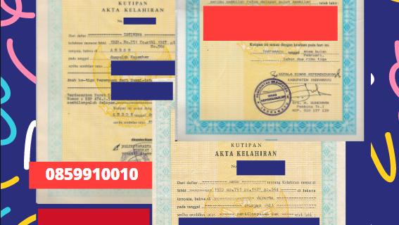 Jasa Legalisir Akta Lahir Indonesia Di Al Muthanna – Irak    08559910010