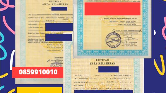 Jasa Legalisir Akta Lahir Indonesia Di Chauk – Myanmar    08559910010