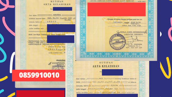 Jasa Legalisir Akta Lahir Indonesia Di Daraa – Suriah    08559910010