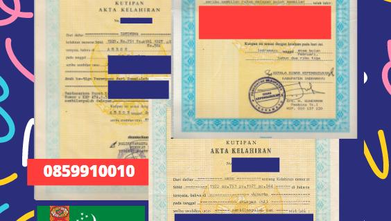 Jasa Legalisir Akta Lahir Indonesia Di Daşoguz – Turkmenistan    08559910010