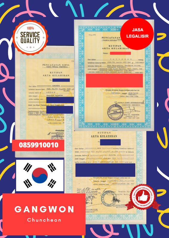 Jasa Legalisir Akta Lahir Indonesia Di Gangwon - Korea Selatan || 08559910010
