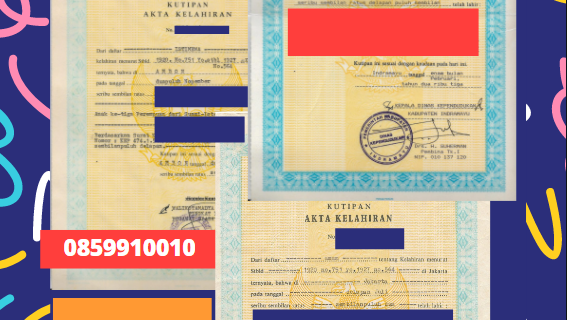 Jasa Legalisir Akta Lahir Indonesia Di Gujarat – India    08559910010
