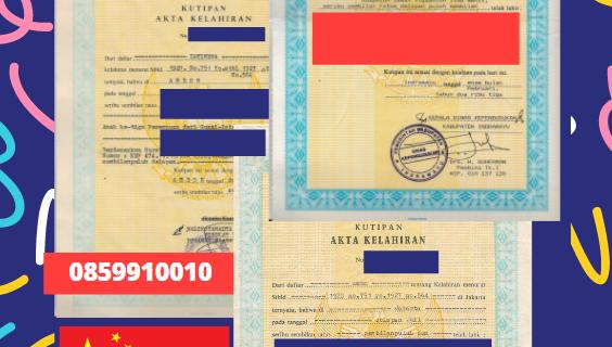 Jasa Legalisir Akta Lahir Indonesia Di Hainan – Tiongkok || 08559910010