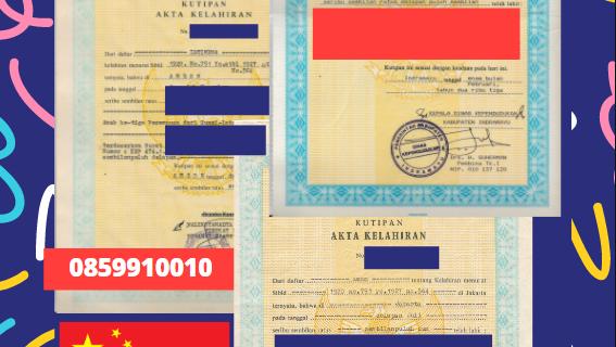 Jasa Legalisir Akta Lahir Indonesia Di Henan – Tiongkok    08559910010