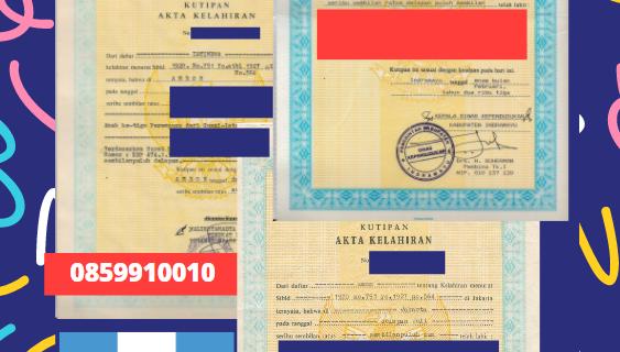 Jasa Legalisir Akta Lahir Indonesia Di Huehuetenango – Guatemala || 08559910010