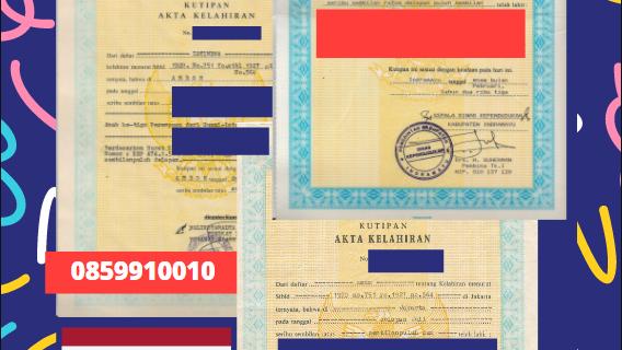 Jasa Legalisir Akta Lahir Indonesia Di Lampang – Thailand || 08559910010