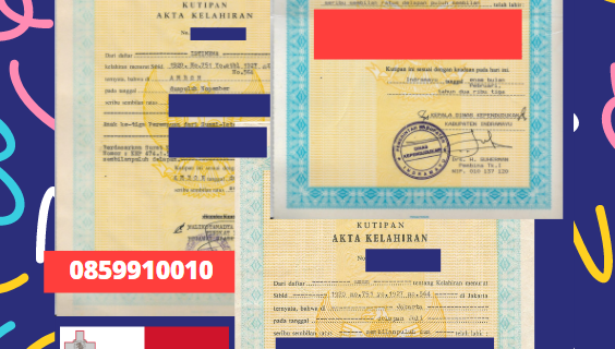 Jasa Legalisir Akta Lahir Indonesia Di Birgu – Malta    08559910010