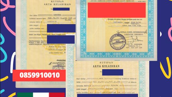 Jasa Legalisir Akta Lahir Indonesia Di Colima – Meksiko    08559910010