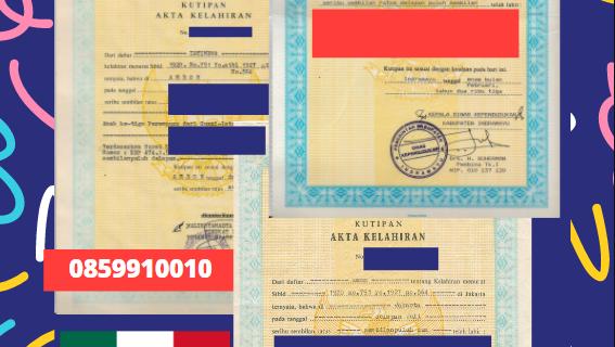 Jasa Legalisir Akta Lahir Indonesia Di Durango – Meksiko    08559910010