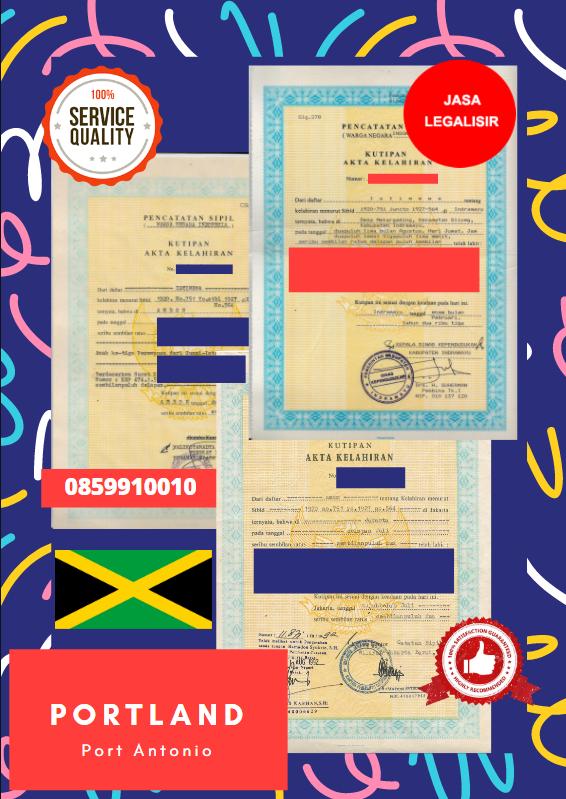 Jasa Legalisir Akta Lahir Indonesia Di Portland - Jamaika || 08559910010
