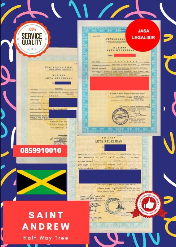 Jasa Legalisir Akta Lahir Indonesia Di Saint Andrew - Jamaika || 08559910010