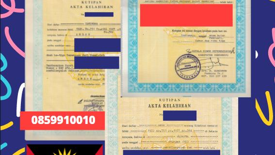 Jasa Legalisir Akta Lahir Indonesia Di Saint George – Antigua dan Barbuda || 08559910010