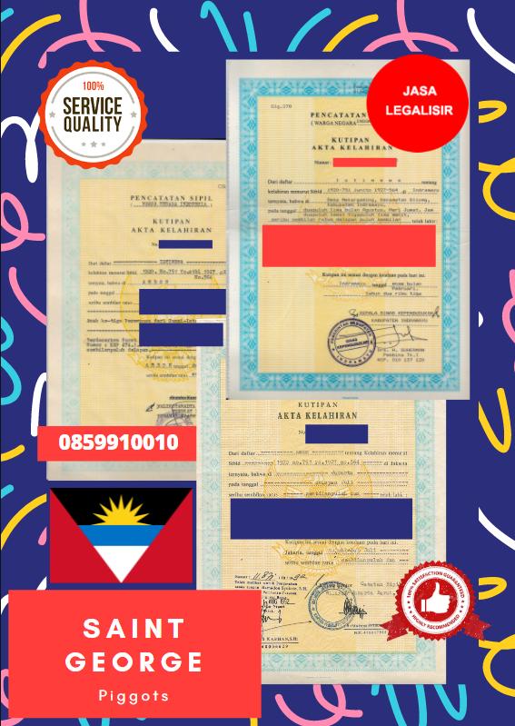 Jasa Legalisir Akta Lahir Indonesia Di Saint George - Antigua dan Barbuda || 08559910010