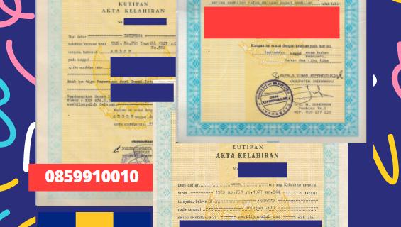 Jasa Legalisir Akta Lahir Indonesia Di Saint Thomas – Barbados    08559910010